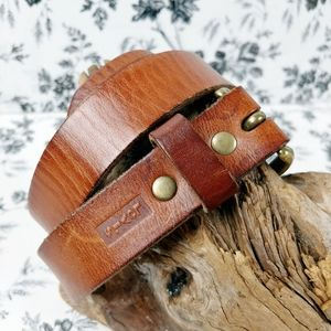 Levi's cognac leather belt solid brass buckle L